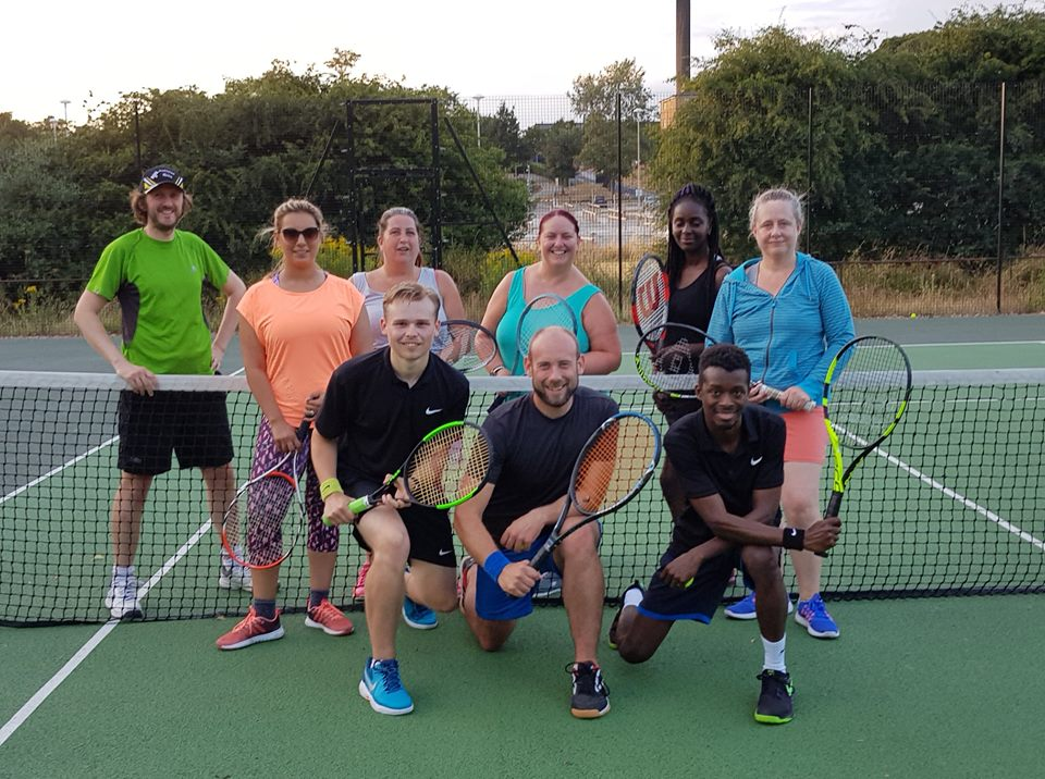 A group of social tennis players